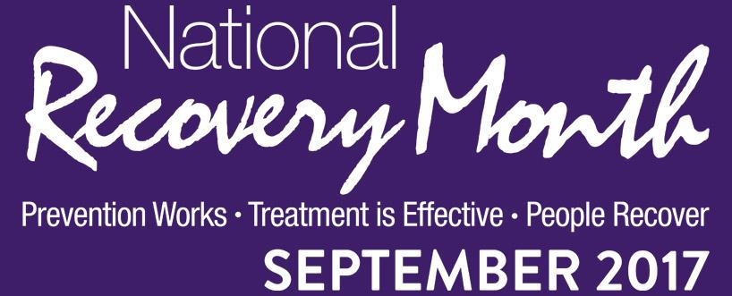 RECOVERY MONTH – 2017