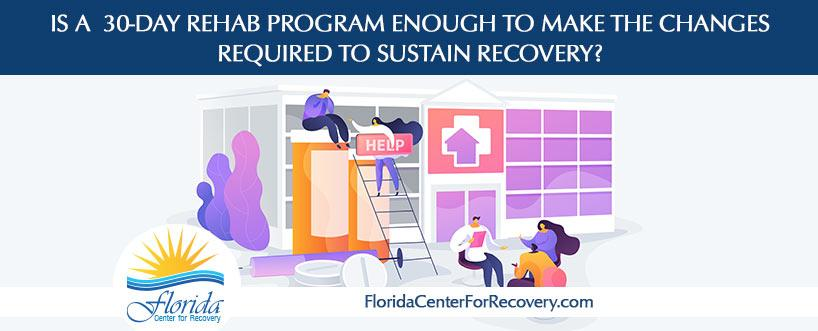 Is a 30-Day Rehab Program Enough to Make the Changes Required to sustain Recovery?