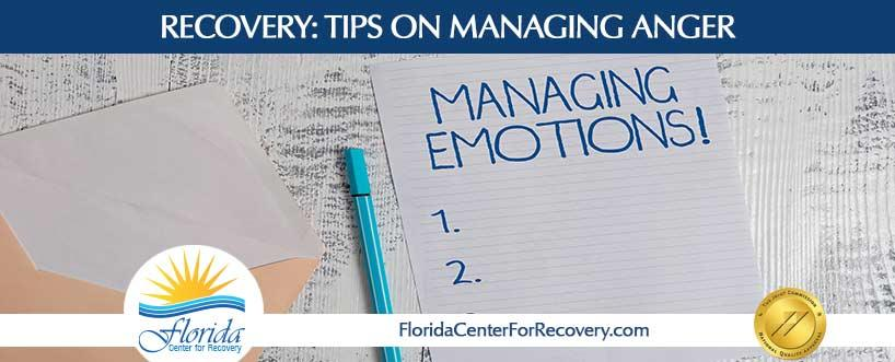 RECOVERY: Tips on Managing Anger